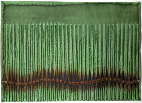 Sohan Qadri, Prana VI, 2006, ink and dye on paper, 39 x 55 inches