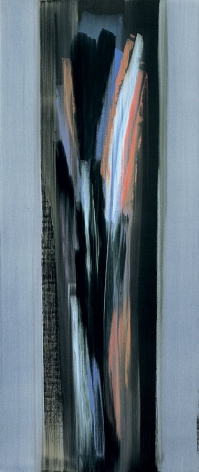 Nero di Nola , 2006, Acrylic on linen, 84.5 x 35.75""