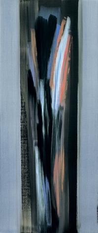 Nero di Nola, 2006, acrylic on linen, 84.5 x 35.75 inches/214.6 x 90.8 cm
