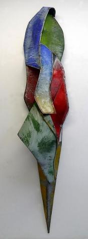 Nathan Slate Joseph, Sarikochina, 2010, pure pigment on steel, 104 x 19.5 x 16 inches