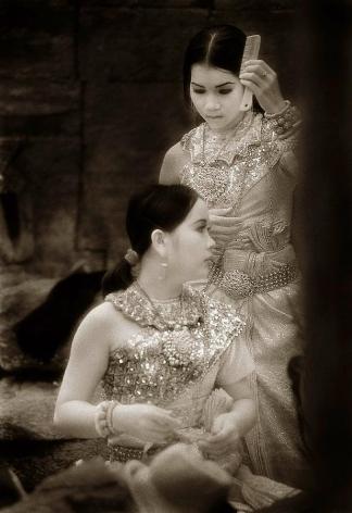 """Aspara Dancers, Preah Khan"", Silver Gelatin Print, 20 x 16"""