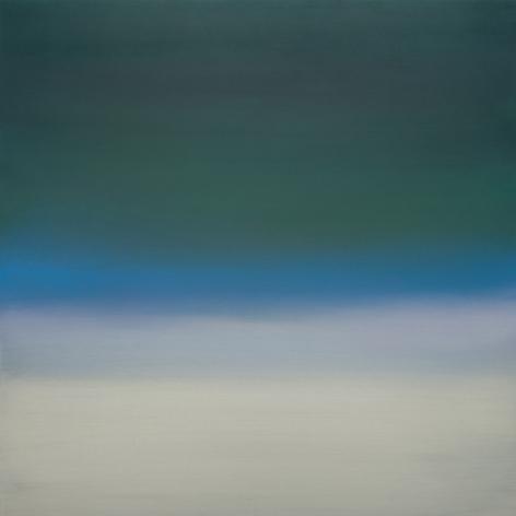 Miya Ando, Night (Dark Green) 4.19.40.40.1, 2019, pigment and urethane on aluminum, 40 x 40 inches/101.6 x 101.6 cm
