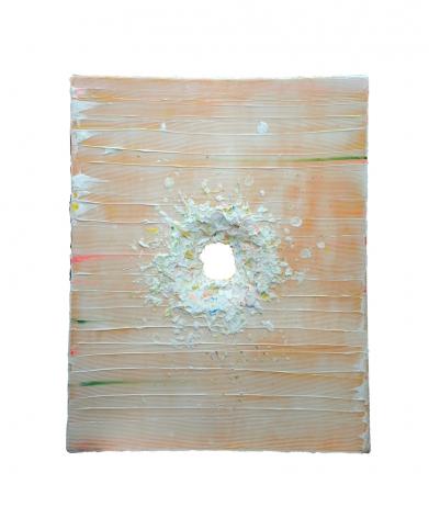 Boundless II, 2016, acrylic paint, heavy gel on fiberglass, 59.5 x 47.6 x 3.2 inches/151 x 121 x 8 cm
