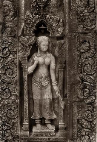 """Aspara Carving, Banteay Srei"", Silver Gelatin Print, 20 x 16"""