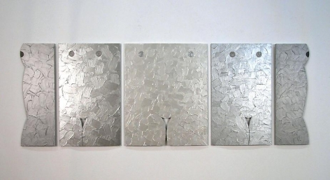Left Right, 2010, acrylic on masonite, 24 x 67.75 inches
