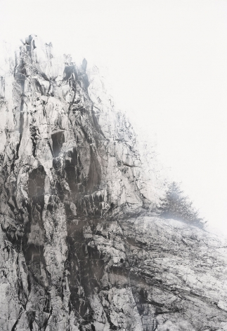 Cliff #32, 2019,acrylic and natural pigments on Japanese mulberry paper mounted on board,68.89 x 47.24 inch/175.0 x 120.0 cm