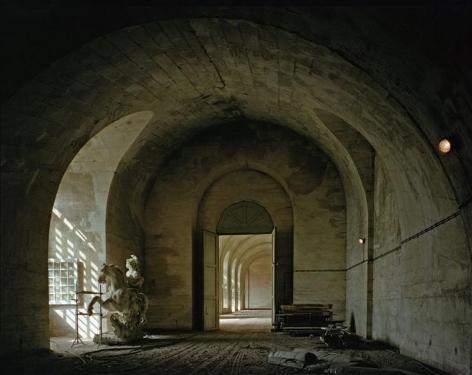 , Robert Polidori, L'orangerie, Château de Versailles, France, 1983, archival inkjet print, 40 x 50 inches; © Robert Polidori