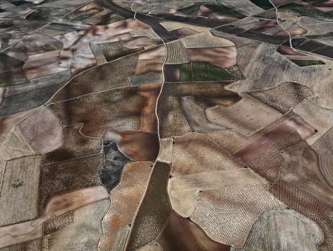 Dryland Farming #31, Monegros County, Aragon, Spain, 2010, chromogenic color print, 48 x 64 inches