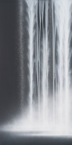 Waterfall, 2020, natural pigments on Japanese mulberry paper mounted on board, 76.3x 38.2inches/194 x 97 cm