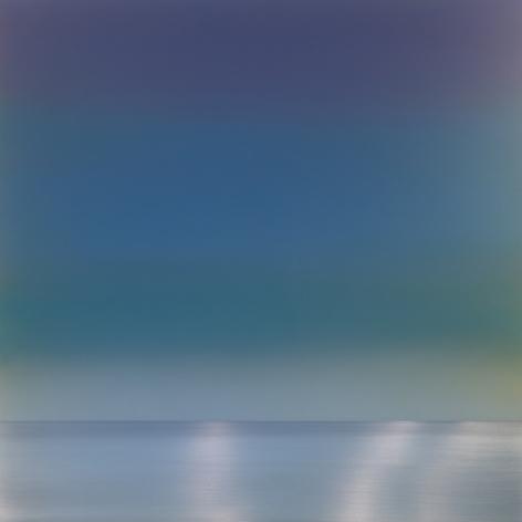 Spectrum 3.3, 2018, pigment, resin and urethane on aluminum, 36 x 36 inches/91.4 x 91.4 cm