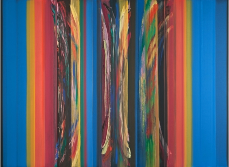 Beyond Blu Two, 2012, acrylic on linen,94.5 x 128.75inches/240 x 327 cm
