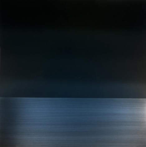 , Winter Blue Reflection, 2014, urethane, pigment, and resin on aluminum, 36 x 36 inches/91.5 x 91.5 cm