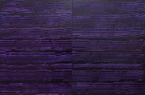 4 Los Angeles - Violet Blue, 2016, oil on linen,83 x 128 inches/210.8 x 325.1 cm