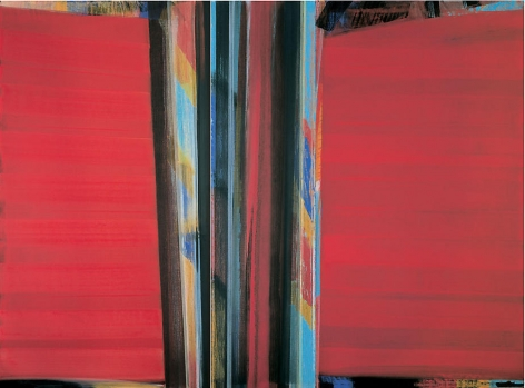 "Vittorio Matino, Licini a Broadway, 2006, Acrylic on linen, 94.5 x 128.75"""