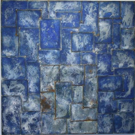 "Nathan Slate Joseph,  Ganguaur II , 2006, Pure pigment on galvanized steel, 48 x 48 x 2"""