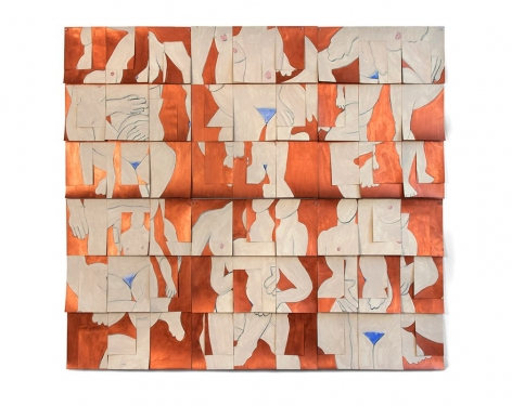 Copper, 1999, acrylic, charcoal and watercolor on paper, 60.5 x 66.25 inches/153.7 x 168.3 cm