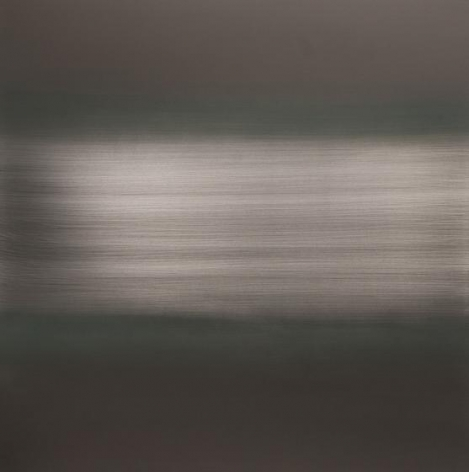 , Autumn Brown Green River, 2014, urethane and pigment on aluminum, 36 x 36 inches/91.5 x 91.5 cm