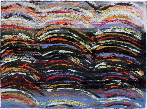 """Across Black, 2007, Mixed media on Arches paper, 22.25 x 30"""""""