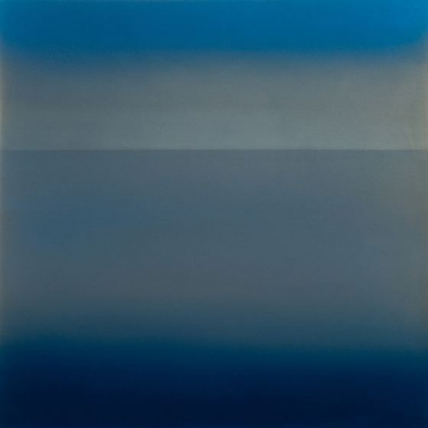 Miya Ando, Kasumi January 2.2.1, 2018, dye, pigment, resin and urethane on aluminum, 24 x 24 inches/61x 61cm