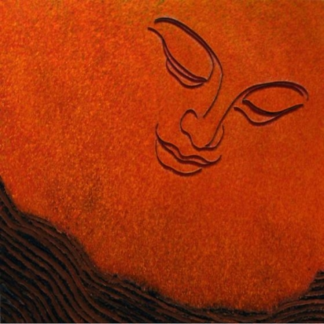 , Lee Waisler, Zen Gardener, 2008, mixed media on canvas, 50 x 50 inches/127 x 127 cm