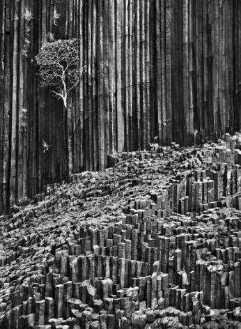 Basaltic organ pipes on Mitsio Island, Madagascar, 2010, gelatin silver print,35 x 24 inches/88.9 x 61 cm© Sebastião Salgado/Amazonas Images