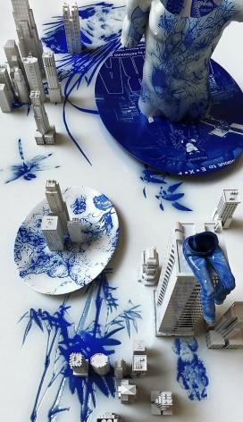 Blue Jean Blues - Akira, 2012, digital print, 68.9 x 39.4 inches