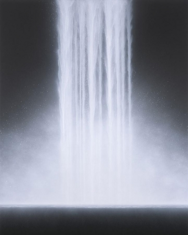 , Hiroshi Senju, Waterfall, 2013, acrylic pigments on Japanese mulberry paper, 89.5 x 71.6 inches