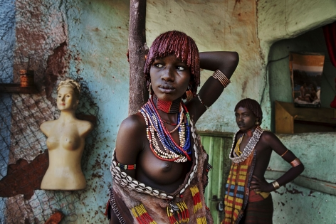 Women of the Hamer Tribe, Omo Valley, Ethiopia, 2012, chromogenic print, 20 x 24 inches/50.8 x 61 cm