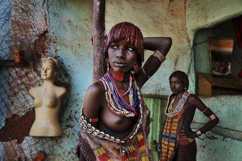 Women of the Hamer Tribe, Omo Valley, Ethiopia, 2012,chromogenic print, 20 x 24 inches/50.8 x 61 cm