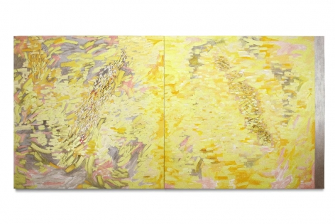 Once in the Morning, 2014, oil on linen, 72 x 151 inches/182.9 x 383.5 cm