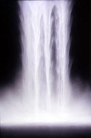 Hiroshi Senju, Day Falls / Night Falls V, 2007, Fluorescent pigment on rice paper mounted on board, 38.75 x 23.75""