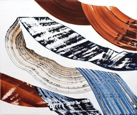 Ricardo Mazel, Bhutan PF 26, 2016, Natural, Oil on linen, 54 x 64 inches/137 x 163 cm