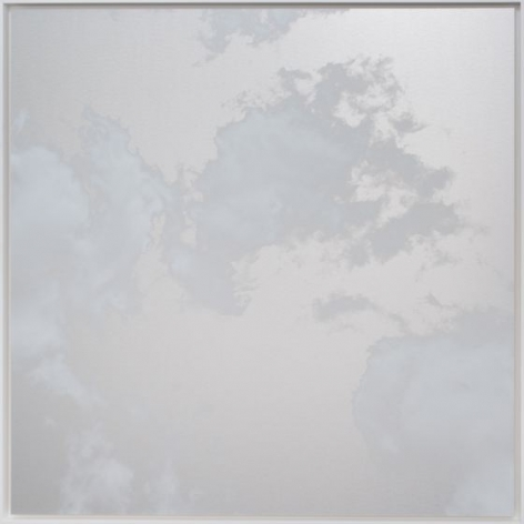 October Cloud 5.5.1, 2018, ink and dye on aluminum composite, 60 x 60 inches/152.4 x 152.4 cm