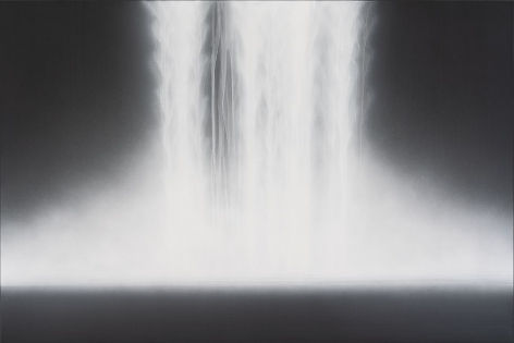 Hiroshi Senju, Waterfall, 2019, natural pigments on Japanese mulberry paper mounted on board, 51.3x 76.3inches/130 x 194 cm