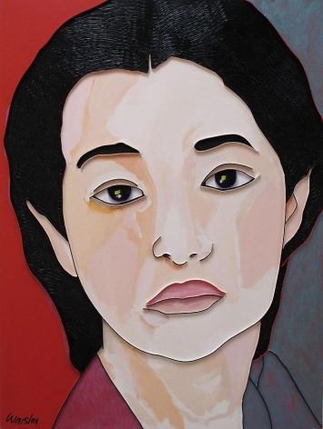 Gong Li, 2009, acrylic and wood on canvas, 48 x 36 inches/121.9 x 91.4 cm