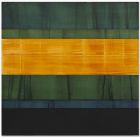 Ricardo Mazal, Composition in Greens 3, 2014, oil on linen, 71 x 73 inches/180.3 x 185.4 cm