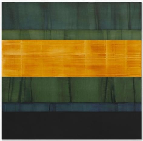 , Ricardo Mazal, Composition in Greens 3, 2014, oil on linen, 71 x 73 inches/180.3 x 185.4 cm