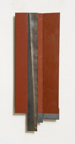 Untitled, 2012, rust preventive paint on steel, 12 x 4.5 inches