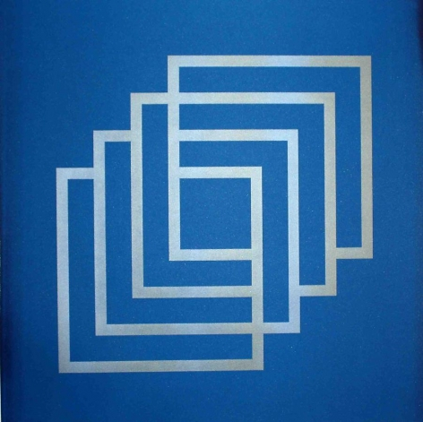 Lulwah Al Homoud, The Infinite Cube (Blue), 32.3 x 32.3 inches