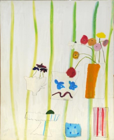 May with Stripes, 1968, oil on canvas, 33.5 x 31 inches