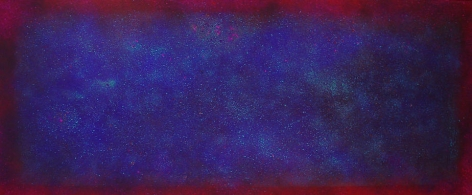 Natvar Bhavsar, ALPAA, 2005, Pure pigment on canvas, 45 x 108""