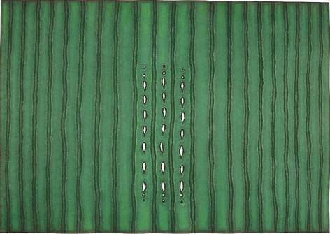 "Sohan Qadri,  Asha II, 2000, Ink & dye on paper, 27 x 39"""