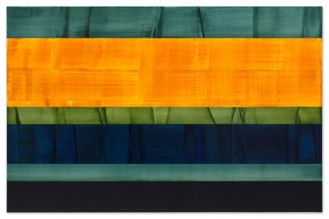 Composition in Green 14, 2014, oil on linen, 78 x 120 inches/198 x 305 cm
