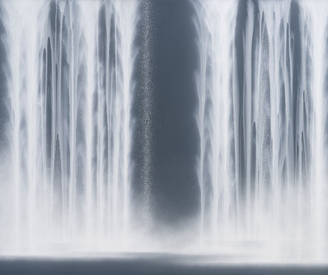 Waterfall, 2020, natural pigments on Japanese mulberry paper mounted on board, 63.8x 76.8inches/162 x 194 cm