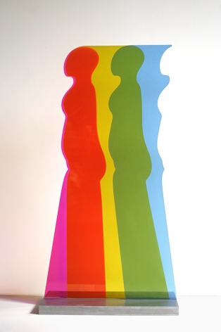 Walking Figure, 1967, Plexiglas and aluminum, 44 x 25 inches/118.8 x 63.5 cm
