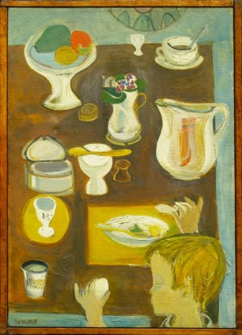 , Egg Eater, 1950, oil on canvas, 20 x 14 inches