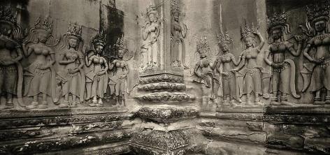 """Aspara Corner, Angkor Wat"", Archival Pigment Print, 20 x 40"""