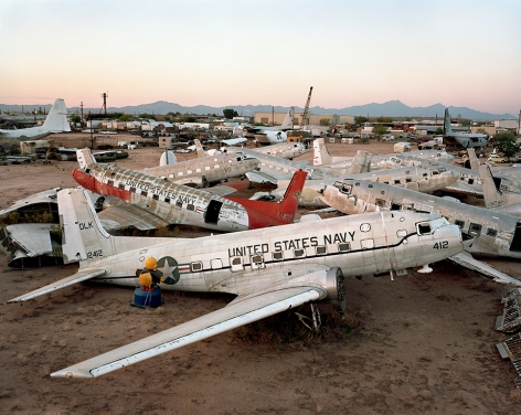 AMARC #11, Davis Monthan AFB, Tucson, Arizona, 2006, chromogenic color print, 39 x 49 inches/99.1 x 124.5 cm, editon of 9