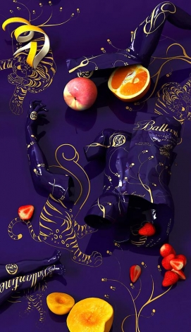 Drunken-Ballantine, 2011, digital print, 82.7 x 47 inches