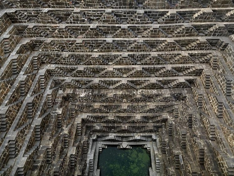 Edward Burtynsky, Step-well #3, Chand Baori, Abhaneri, Rajasthan, India, 2010, Chromogenic color print, 48 x 64 inches